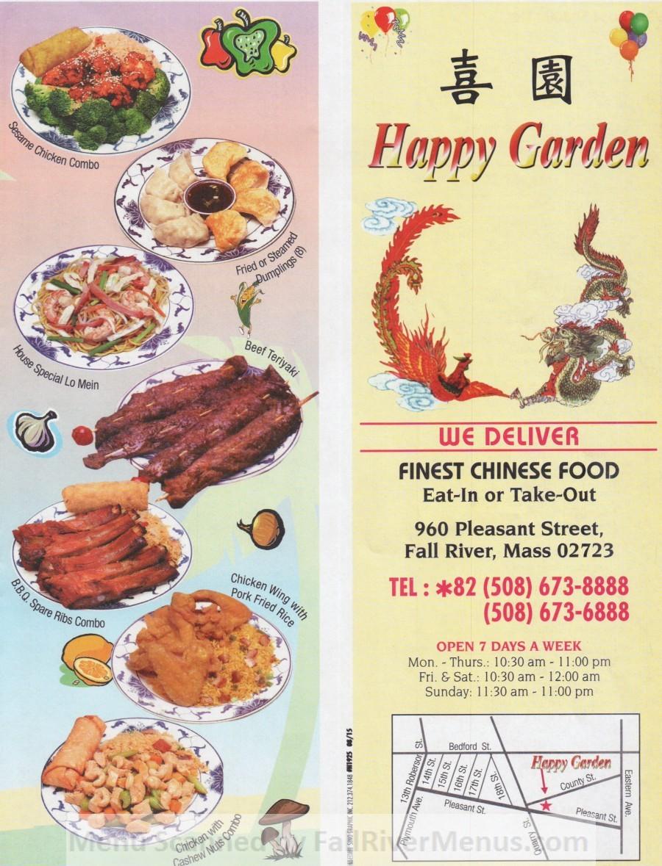 happy garden 6 scnd 6-67-2066  Fall River Restaurants