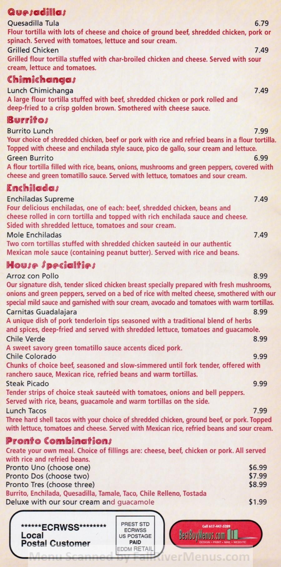 fiesta mexican restaurant menu 6 scnd 4-19-2016