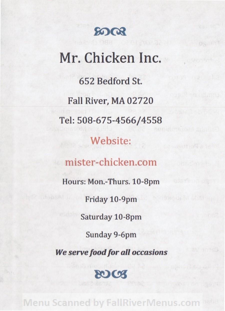 Mr. Chicken Inc.
