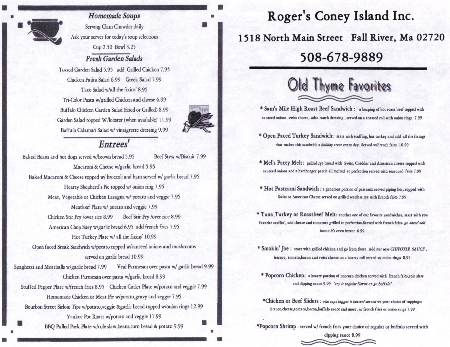 Rogers Coney Island Fall River