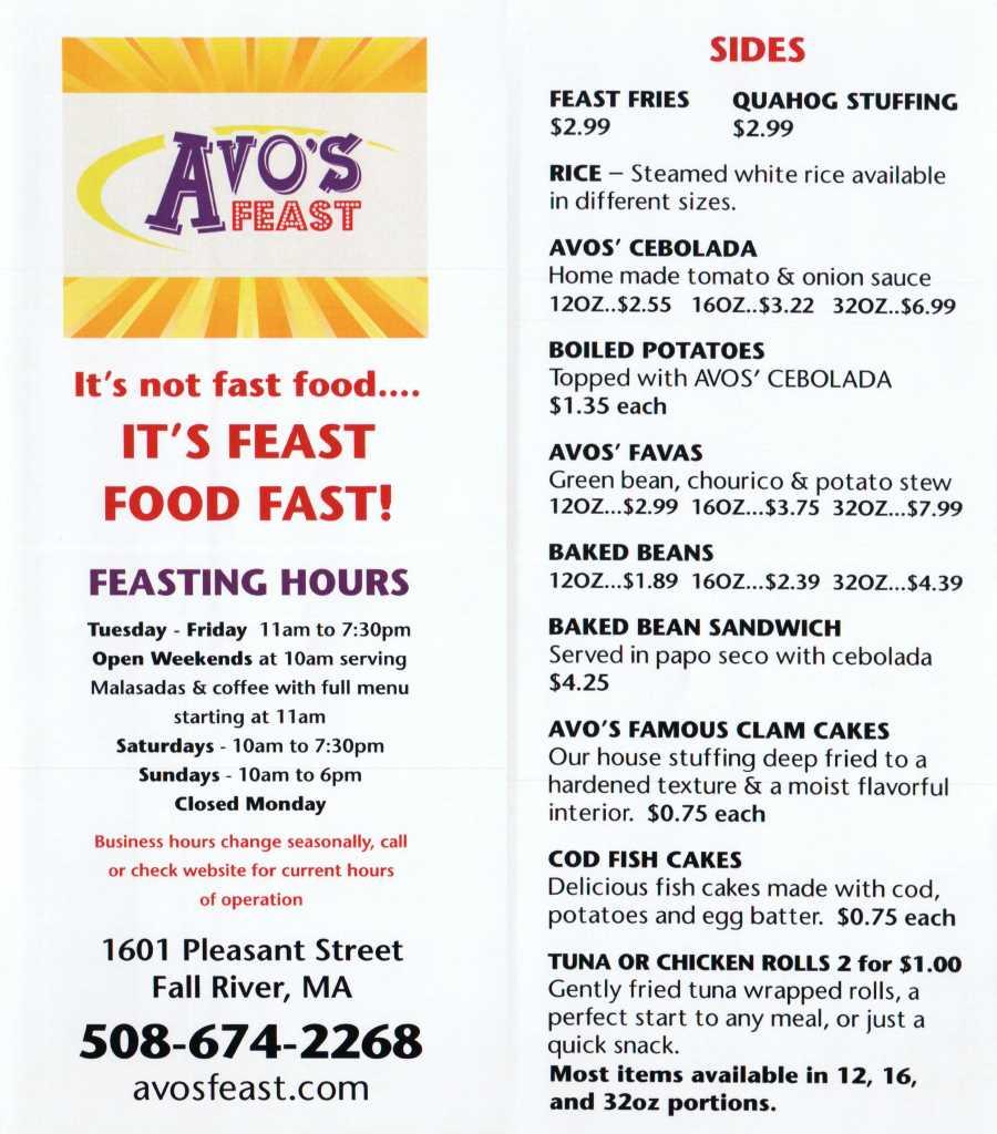 avo's feast menu 1 scnd 4-29-2016