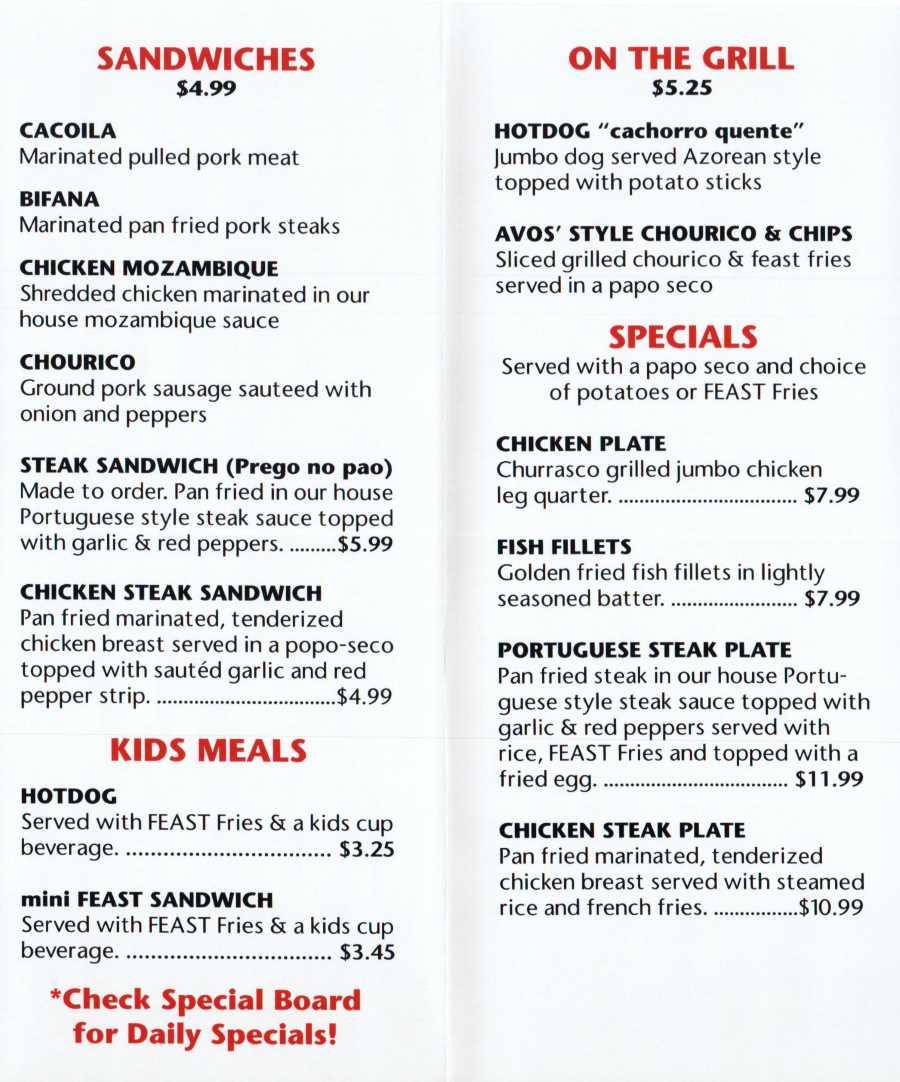 avo's feast menu 2 scnd 4-29-2016