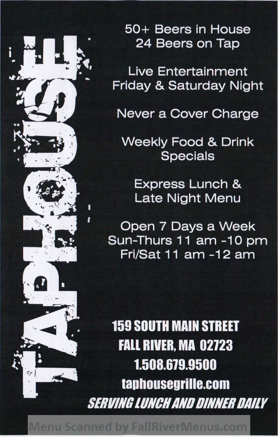 Taphouse Grille (closed)  Fall River Restaurants