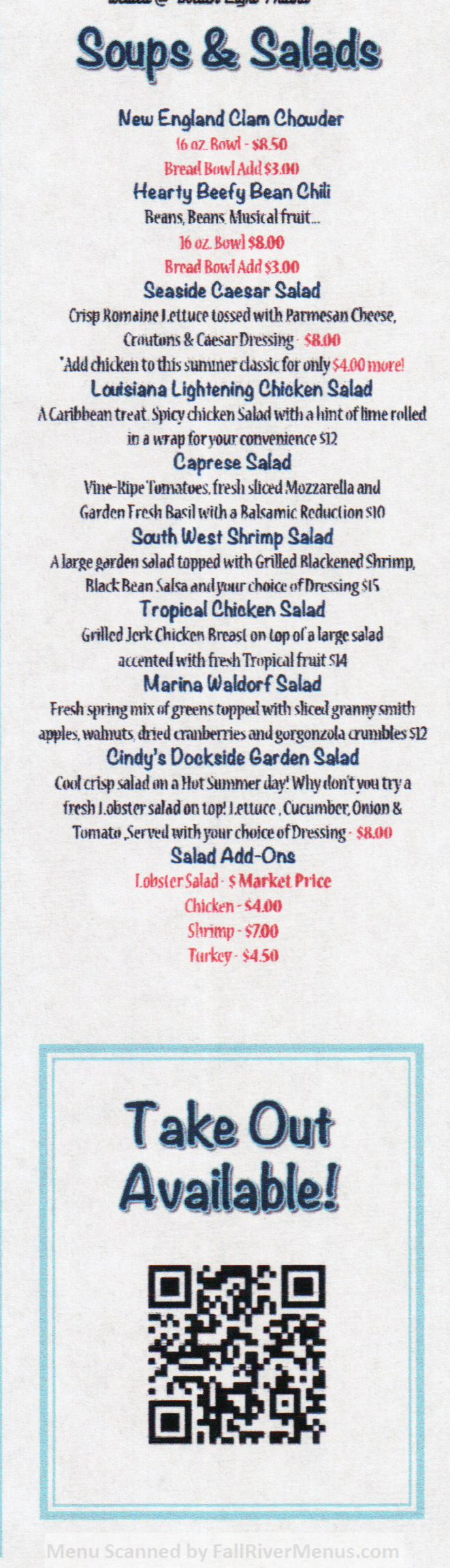 tipsy seagull menu 3 scnd 7-1-2016