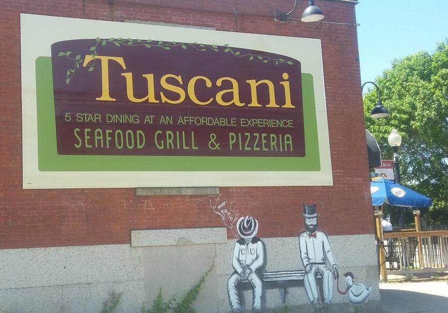tuscani outside mural