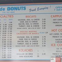 Home Made Donuts Fall River Menu