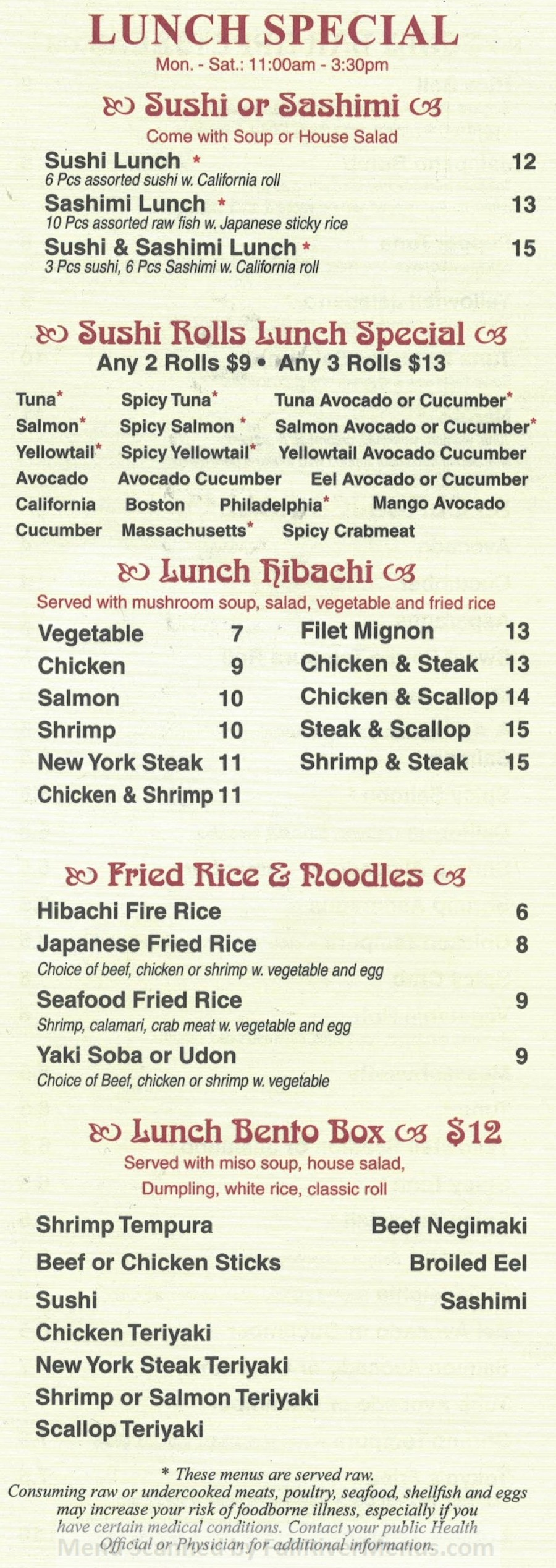 Tokyo Steakhouse Fall River  Fall River Restaurants